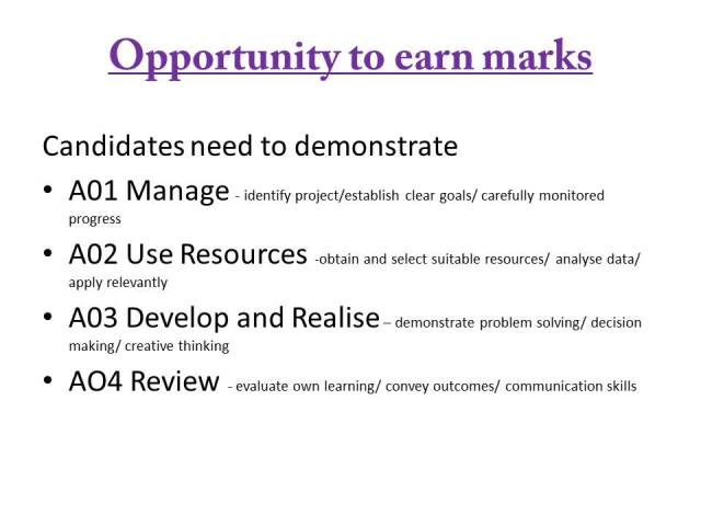 Opportunity to earn marks